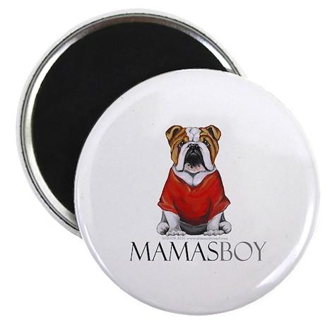 """Mamas Boy Bulldog 2.25"""" Magnet (10 pack)"""