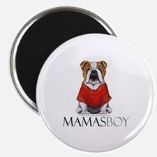 "Mamas Boy Bulldog 2.25"" Magnet (10 pack)"