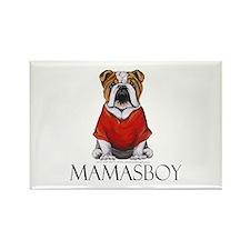 Mamas Boy Bulldog Rectangle Magnet