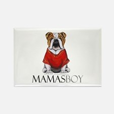 Mamas Boy Bulldog Rectangle Magnet