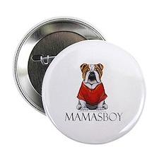 """Mamas Boy Bulldog 2.25"""" Button"""