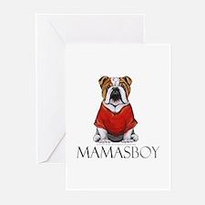 Mamas Boy Bulldog Greeting Cards (Pk of 20)