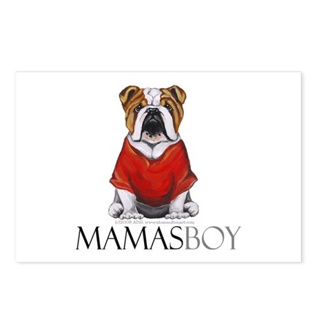 Mamas Boy Bulldog Postcards (Package of 8)