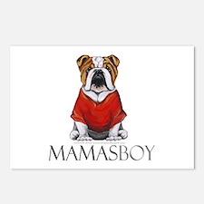 Mamas Boy Bulldog Postcards (Package of 8)