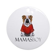 Mamas Boy Bulldog Ornament (Round)