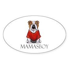 Mamas Boy Bulldog Decal