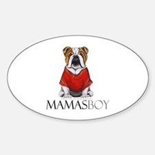 Mamas Boy Bulldog Decal