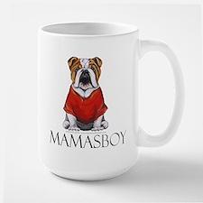 Mamas Boy Bulldog Large Mug