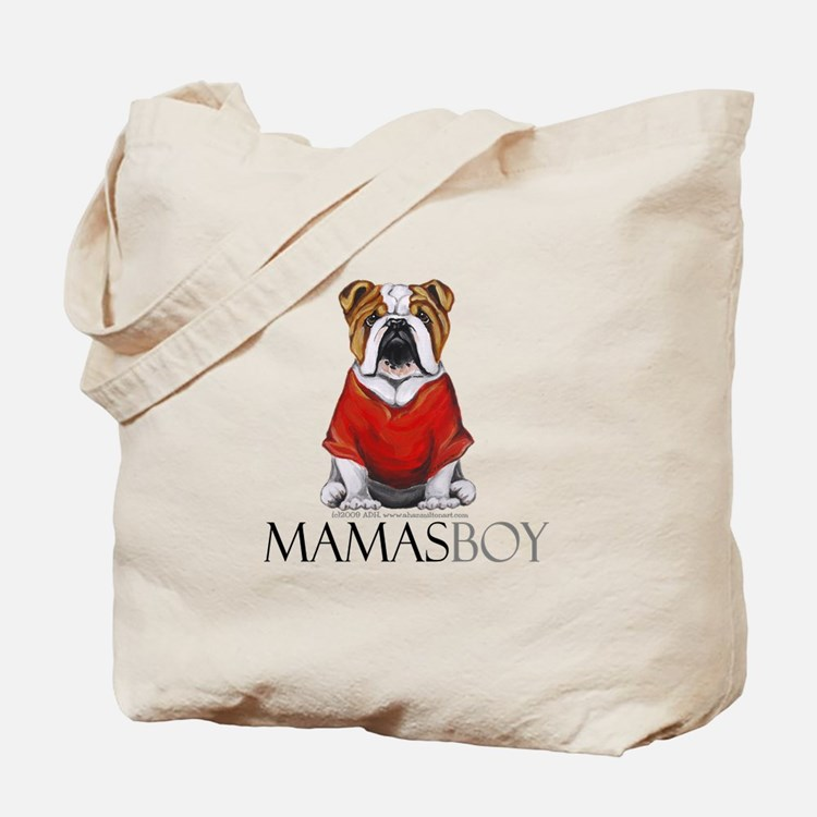 Mamas Boy Bulldog Tote Bag