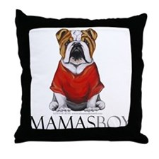 Mamas Boy Bulldog Throw Pillow