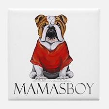 Mamas Boy Bulldog Tile Coaster