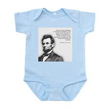 Abraham Lincoln Quote Infant Bodysuit