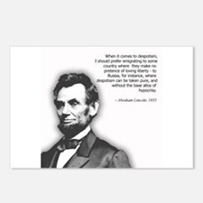 Abraham Lincoln Quote Postcards (Package of 8)