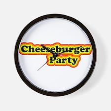 Cheeseburger Party Wall Clock