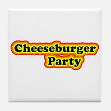 Cheeseburger Party Tile Coaster