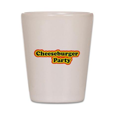 Cheeseburger Party Shot Glass