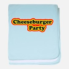 Cheeseburger Party baby blanket