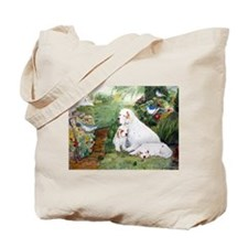 Clumbers in the Garden Tote Bag