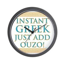 Instant Greek Wall Clock