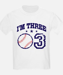 Three Year Old Baseball T-Shirt