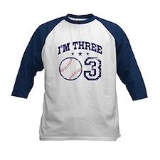 Three Year Old Baseball Tee