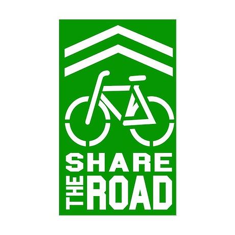 GREEN Sharrow Share the Road - Sticker