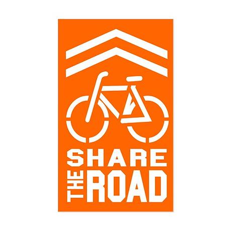ORANGE Sharrow Share the Road - Sticker