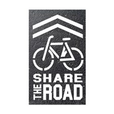 BLACKTOP Sharrow Share the Road - Decal