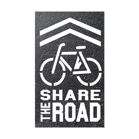 BLACKTOP Sharrow Share the Road - Sticker