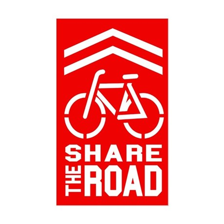 RED Sharrow Share the Road - Sticker