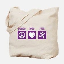 Peace/Love/Run Tote Bag