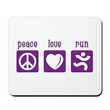 Peace/Love/Run Mousepad