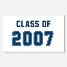 Class of 2007 Blue Decal