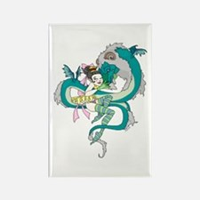 Dragon Embrace Rectangle Magnet