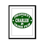 Charles' Irish Pub Framed Panel Print