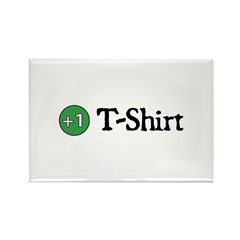+1 T-Shirt Rectangle Magnet (10 pack)