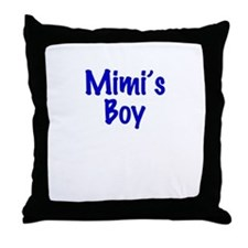 Mimi's Boy Throw Pillow