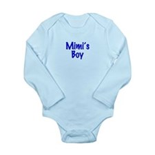 Mimi's Boy Long Sleeve Infant Bodysuit