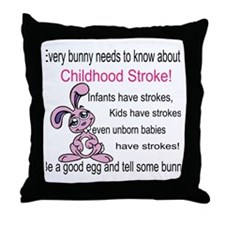 Tell Some Bunny! Throw Pillow