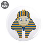 "Egyptian Pharaoh King 3.5"" Button (10 Pk)"