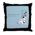 Gym's Lamest Machines Throw Pillow