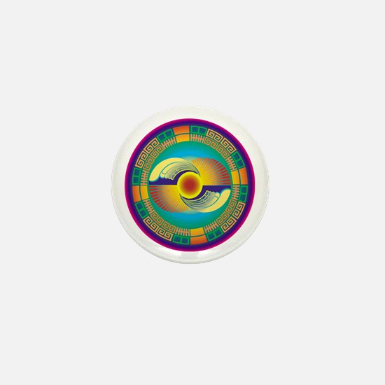 Mayan Crop Circle Mini Button