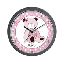 Sugar Cookie Teddy Bear Wall Clock - Alexia