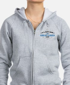 US Navy Great Lakes Base Zip Hoodie