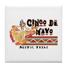 Cinco de Mayo Austin Texas Tile Coaster
