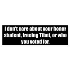 I don't care about your honor student