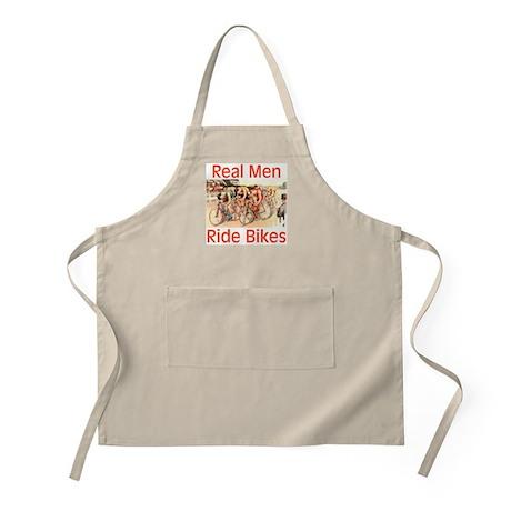 Real Men Ride Bikes Apron