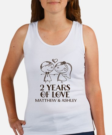 2nd Wedding Anniversary Personalized Tank Top