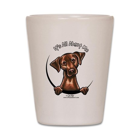 Chocolate Lab IAAM Shot Glass