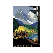 Austria Band Travel Rectangle Magnet